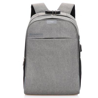 USB Rechargeable Password Lock Travel Backpack