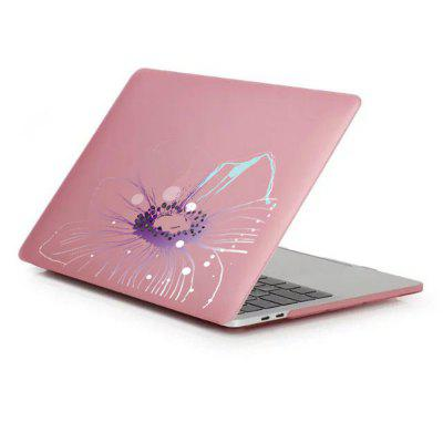 Case for MacBook Pro 15 inch Rubberized Matte Hard Shell Transparent Flower Pattern