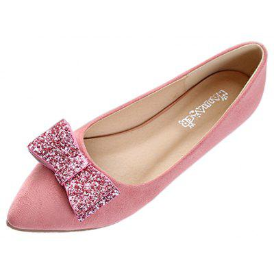 Women Fashion Bowknot Pointed Toe Flats Shoes