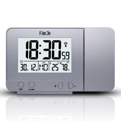 FanJu FJ3531 Projection Alarm Clock with Temperature and Time Projection / USB Charger/ Indoor Temperature and Humidity