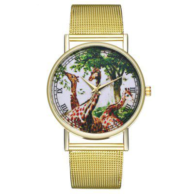 ZhouLianFa T72 Fashion Upscale Atmospheric Giraffe Pattern Quartz Watch