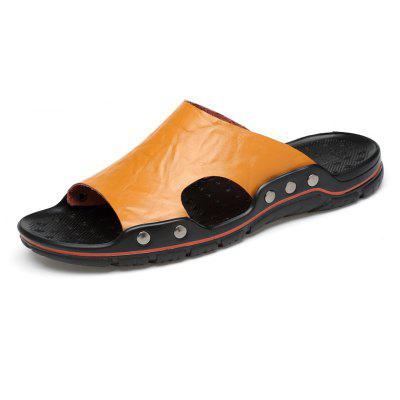 Men Casual Simple Plus Size Street Slippers