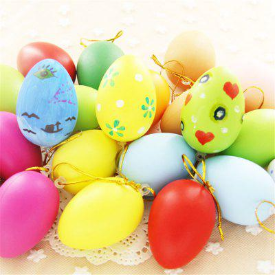 10pcs Plastic Easter Egg Pack of Empty Hunt  Assorted Colours