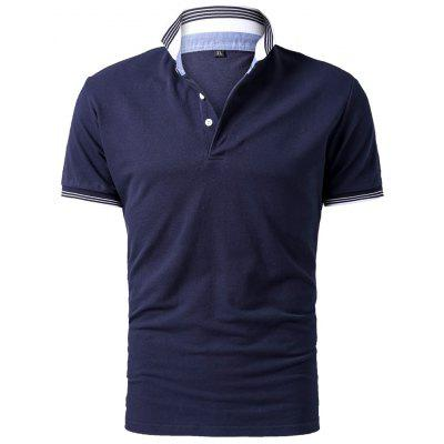Mens Summer Short Sleeve Lapel Polo ShirtMens Short Sleeve Tees<br>Mens Summer Short Sleeve Lapel Polo Shirt<br><br>Collar: Turn-down Collar<br>Color Style: Contrast Color<br>Fabric Type: Satin<br>Feature: Plus Size<br>Material: Cotton<br>Package Contents: 1 x Shirt<br>Pattern Type: Solid<br>Sleeve Length: Short<br>Style: Casual<br>Type: Regular<br>Weight: 0.3000kg