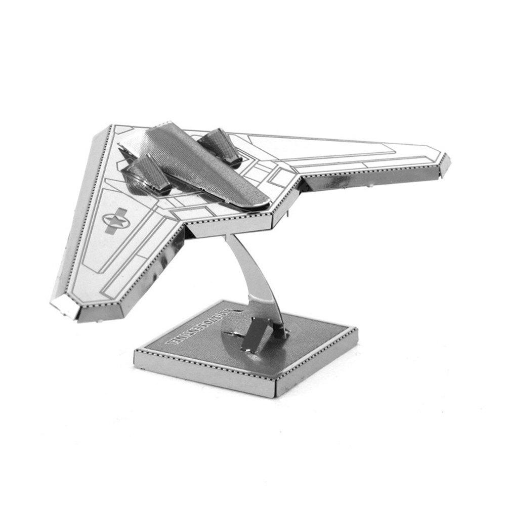 Creative Stealth Fighter 3D Metal High-quality DIY Laser Cut Puzzles Jigsaw Model Toy