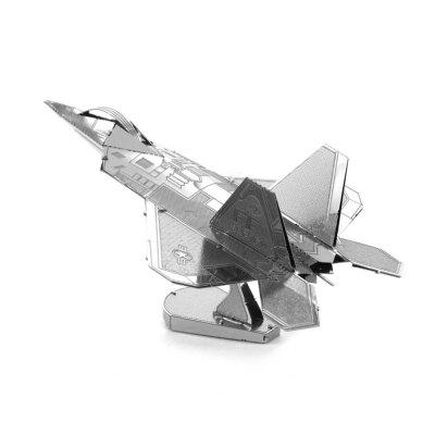 Creative F22 Fighter 3D Metal High-quality DIY Laser Cut Puzzles Jigsaw Model Toy