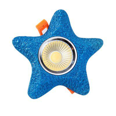 BRELONG COB Childrens Room Starfish Spotlight LED Bedroom Ceiling White Light  COB-3W 5W 7WFlush Ceiling Lights<br>BRELONG COB Childrens Room Starfish Spotlight LED Bedroom Ceiling White Light  COB-3W 5W 7W<br><br>Battery Included: No<br>Brand: BRELONG<br>Bulb Included: Yes<br>Color Temperature or Wavelength: 6000-6500<br>Features: Eye Protection, Bulb Included<br>Light Source Color: White<br>Number of Bulb: 1 Bulb<br>Number of Bulb Sockets: 1<br>Package Contents: 1 x Ceiling Light<br>Package size (L x W x H): 17.00 x 17.00 x 8.00 cm / 6.69 x 6.69 x 3.15 inches<br>Package weight: 1.0000 kg<br>Product size (L x W x H): 16.00 x 16.00 x 7.00 cm / 6.3 x 6.3 x 2.76 inches<br>Product weight: 0.9500 kg<br>Shade Material: Resin, Aluminum Alloy<br>Style: Chic &amp; Modern, LED, Modern/Contemporary<br>Suggested Room Size: 10 - 15?<br>Suggested Space Fit: Bedroom,Kids Room,Boys Room,Girls Room<br>Type: Semi-Flushmount Lights, Spot Light
