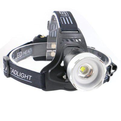 UltraFire B13-A1 XM-L2 1000 Lumens 2 Rechargeable Light Headlamps, Black
