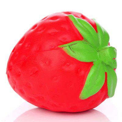 Jumbo Squishy Stylish Strawberry PU Stress Reliever Toy