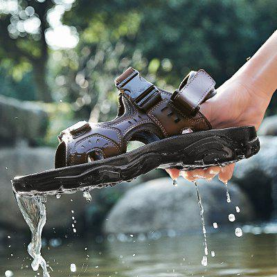 Homass New TPR Waterproof Mens SandalsMens Sandals<br>Homass New TPR Waterproof Mens Sandals<br><br>Available Size: 38-45<br>Closure Type: Elastic band<br>Embellishment: None<br>Gender: For Men<br>Heel Hight: 0.5<br>Occasion: Casual<br>Outsole Material: TPR<br>Package Contents: 1 x shoes(pair)<br>Pattern Type: Solid<br>Sandals Style: Ankle-Wrap<br>Style: Retro<br>Upper Material: Leather<br>Weight: 1.5840kg