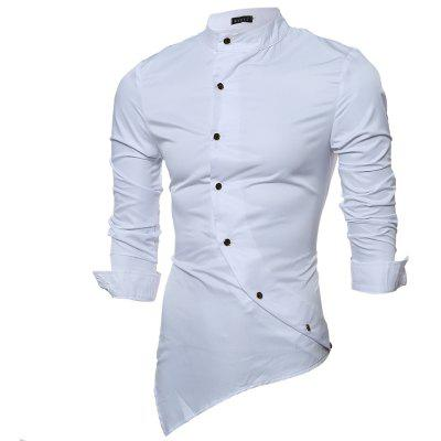 2018 Spring Summer New Satin Fabric Solid Color Mens Slim Long-sleeved ShirtMens Shirts<br>2018 Spring Summer New Satin Fabric Solid Color Mens Slim Long-sleeved Shirt<br><br>Collar: Mandarin Collar<br>Material: Cotton Blends<br>Package Contents: 1xShirt<br>Shirts Type: Casual Shirts<br>Sleeve Length: Full<br>Weight: 0.2500kg