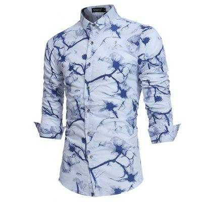 2018 Spring Summer New Mens Personality Print Slim Long Sleeve ShirtMens Shirts<br>2018 Spring Summer New Mens Personality Print Slim Long Sleeve Shirt<br><br>Collar: Turn-down Collar<br>Material: Cotton Blends<br>Package Contents: 1 x Shirt<br>Shirts Type: Casual Shirts<br>Sleeve Length: Full<br>Weight: 0.2500kg