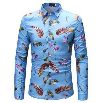 2018 New Foreign Trade New Men's Long-Sleeved Shirt