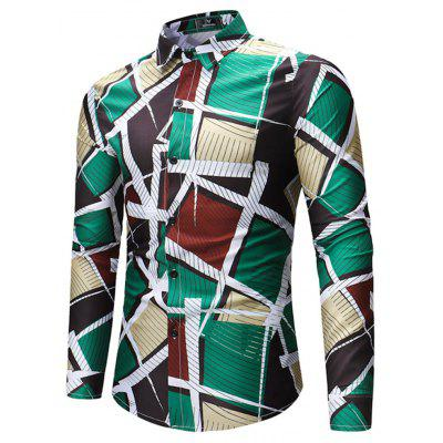 2018 New Foreign Trade New Mens Geometric Print Long-Sleeved ShirtMens Shirts<br>2018 New Foreign Trade New Mens Geometric Print Long-Sleeved Shirt<br><br>Collar: Turn-down Collar<br>Material: Linen<br>Package Contents: 1xshirt<br>Shirts Type: Casual Shirts<br>Sleeve Length: Full<br>Weight: 1.0000kg