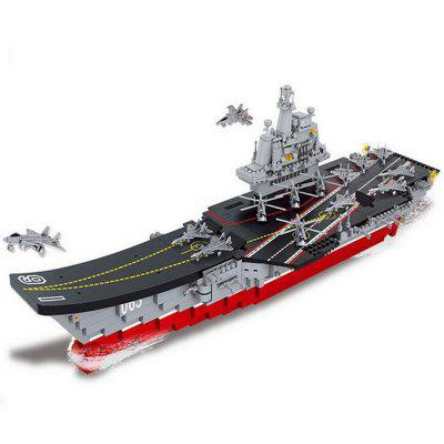 Military Aircraft Carriers Model Building Blocks Classic Enlighten Figure Toys Children