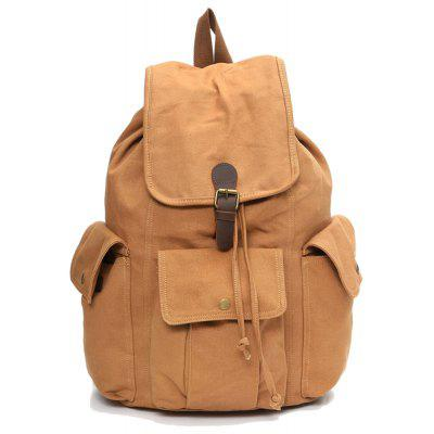 Men'S Business Casual Travel Simple Fashion Waterproof Canvas Backpack