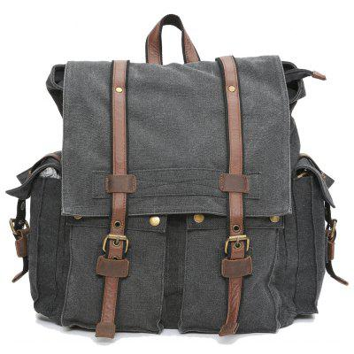 Men'S Fashion  Sports Campus Large Capacity Canvas Backpack