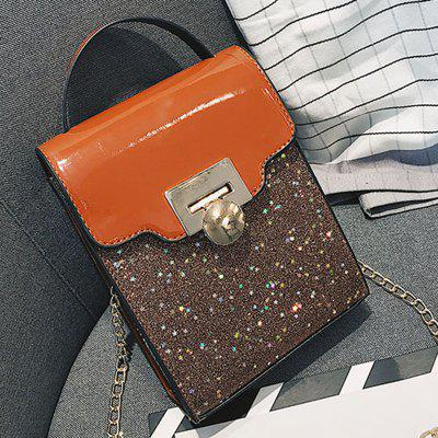Sequin Locking Chain Shoulder Messenger BagCrossbody Bags<br>Sequin Locking Chain Shoulder Messenger Bag<br><br>Closure Type: Hasp<br>Gender: For Women<br>Handbag Type: Crossbody bag<br>Main Material: PU<br>Occasion: Versatile<br>Package Contents: 1 x Crossbody Bag<br>Package size (L x W x H): 14.00 x 6.00 x 19.00 cm / 5.51 x 2.36 x 7.48 inches<br>Package weight: 0.3900 kg<br>Pattern Type: Patchwork<br>Product size (L x W x H): 13.00 x 5.00 x 18.00 cm / 5.12 x 1.97 x 7.09 inches<br>Product weight: 0.2900 kg<br>Style: Fashion