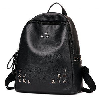 Rivet Backpack Wild SchoolbagBackpacks<br>Rivet Backpack Wild Schoolbag<br><br>For: Traveling<br>Material: PU Leather<br>Package Contents: 1 x Backpack<br>Package size (L x W x H): 31.00 x 16.00 x 35.00 cm / 12.2 x 6.3 x 13.78 inches<br>Package weight: 0.6000 kg<br>Product size (L x W x H): 30.00 x 15.00 x 34.00 cm / 11.81 x 5.91 x 13.39 inches<br>Product weight: 0.5000 kg<br>Type: Backpack