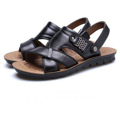 Summer Casual Cow Leather Men Beach Sandals SlipperMens Sandals<br>Summer Casual Cow Leather Men Beach Sandals Slipper<br><br>Available Size: 37 38 39 40 41 42 43 44 45 46 47<br>Closure Type: Elastic band<br>Embellishment: Sequined<br>Gender: For Men<br>Heel Hight: 2-3CM<br>Occasion: Casual<br>Outsole Material: TPR<br>Package Contents: 1 x Shoes(pair)<br>Pattern Type: Checkered<br>Sandals Style: Slides<br>Style: Leisure<br>Upper Material: Genuine Leather<br>Weight: 1.4784kg