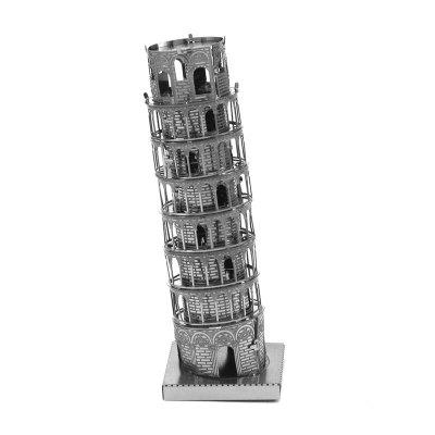 3D Metal Model Pizza Leaning Tower Puzzle Toy