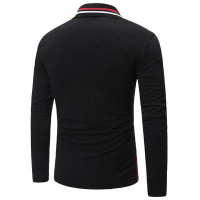 New Mens Fashion Lapels Casual Color Matching Personality Youth Long Sleeve Polo ShirtMens Short Sleeve Tees<br>New Mens Fashion Lapels Casual Color Matching Personality Youth Long Sleeve Polo Shirt<br><br>Collar: Turn-down Collar<br>Color Style: Solid<br>Fabric Type: Broadcloth<br>Material: Cotton Blends<br>Package Contents: 1xPolo Shirt<br>Pattern Type: Patchwork<br>Polo Shirt: None<br>Sleeve Length: Full<br>Style: Casual<br>Type: Regular<br>Weight: 0.3000kg