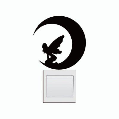 DSU  Fairy Girl Switch Sticker Anglel Silhouette Vinyl Wall Stickers