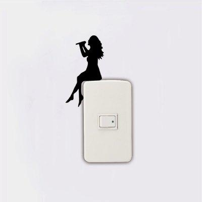 DSU Girl Singing Silhouette Light Switch Sticker Singer Wall StickerWall Stickers<br>DSU Girl Singing Silhouette Light Switch Sticker Singer Wall Sticker<br><br>Art Style: Plane Wall Stickers, Toilet Stickers<br>Artists: Others<br>Brand: DSU<br>Color Scheme: Black<br>Effect Size (L x W): 11 x 6 cm<br>Function: Light Switch Stickers, Decorative Wall Sticker<br>Layout Size (L x W): 11 x 6 cm<br>Material: Vinyl(PVC)<br>Package Contents: 1 x Wall Sticker<br>Package size (L x W x H): 13.00 x 8.00 x 0.02 cm / 5.12 x 3.15 x 0.01 inches<br>Package weight: 0.0200 kg<br>Product size (L x W x H): 11.00 x 6.00 x 0.01 cm / 4.33 x 2.36 x 0 inches<br>Product weight: 0.0100 kg<br>Quantity: 1<br>Subjects: Fashion,Letter,Cute,Cartoon,Famous,Game<br>Suitable Space: Living Room,Bedroom,Hotel,Kids Room,Entry,Kitchen,Pathway,Door,Corridor,Hallway,Boys Room,Game Room<br>Type: Plane Wall Sticker