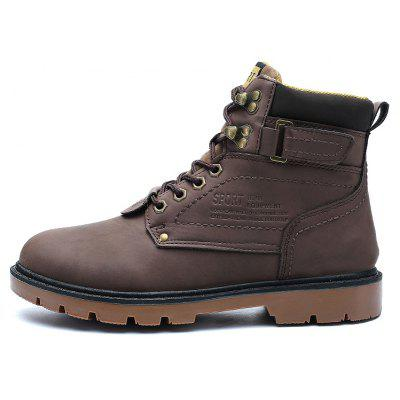 """ZEACAVA Outdoor Waterproof Rubber Leisure Suede Leather Man Martin BootsMens Boots<br>ZEACAVA Outdoor Waterproof Rubber Leisure Suede Leather Man Martin Boots<br><br>Boot Height: Ankle<br>Boot Type: Riding/Equestrian<br>Closure Type: Lace-Up<br>Embellishment: Letter<br>Gender: For Men<br>Heel Hight: Flat(0-0.5"""")<br>Heel Type: Low Heel<br>Outsole Material: Rubber<br>Package Contents: 1xShoes(Pair)<br>Pattern Type: Solid<br>Season: Spring/Fall<br>Toe Shape: Round Toe<br>Upper Material: PU<br>Weight: 1.2000kg"""