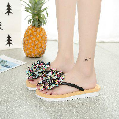 Ms Flat Flower Fashion Cool Beach SlippersSlippers &amp; Flip-Flops<br>Ms Flat Flower Fashion Cool Beach Slippers<br><br>Available Size: 35,36,37,38,39,40,41<br>Closure Type: Slip-On<br>Gender: For Women<br>Heel Type: Flat Heel<br>Occasion: Party<br>Package Content: 1 x Shoes?Pair?<br>Pattern Type: Floral<br>Sandals Style: Flip Flops<br>Style: Concise<br>Upper Material: PU<br>Weight: 0.6720kg
