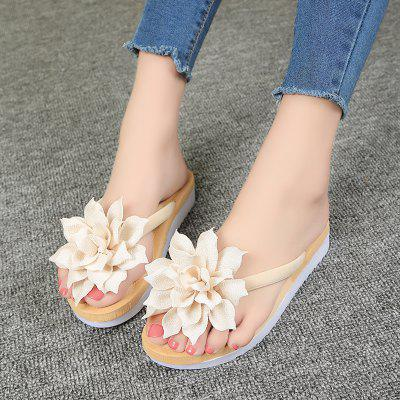 Summer New Joker Antiskid Leisure Platform Beach SlippersSlippers &amp; Flip-Flops<br>Summer New Joker Antiskid Leisure Platform Beach Slippers<br><br>Available Size: 35,36,37,38,39,40,41<br>Gender: For Women<br>Heel Type: Flat Heel<br>Package Contents: 1 x Shoes?Pair?<br>Pattern Type: Floral<br>Season: Spring/Fall, Summer<br>Slipper Type: Outdoor<br>Style: Fashion<br>Upper Material: PU<br>Weight: 0.6720kg