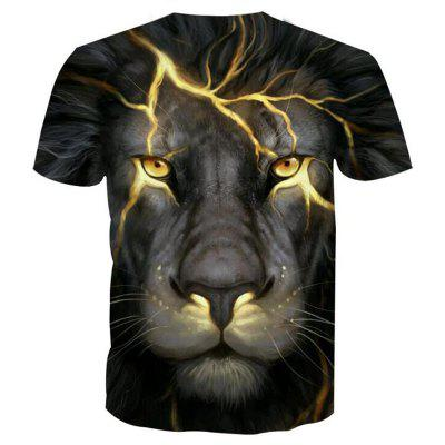 Mens Casual 3D Print Lightning Lion Round Neck Short Sleeves T-shirtMens Short Sleeve Tees<br>Mens Casual 3D Print Lightning Lion Round Neck Short Sleeves T-shirt<br><br>Collar: Round Neck<br>Embellishment: 3D Print<br>Fabric Type: Broadcloth<br>Material: Polyester, Spandex<br>Package Contents: 1 x T-shirt<br>Pattern Type: Plant<br>Sleeve Length: Short Sleeves<br>Style: Casual<br>Weight: 0.1700kg