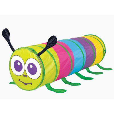 Multicolored Caterpillar Crawling Channel Children Toy Tent Tunnel