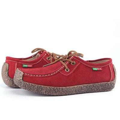 Womens Shoes Suede Casual Flat Heel Lace-up LoafersLoafers<br>Womens Shoes Suede Casual Flat Heel Lace-up Loafers<br><br>Available Size: 35-42<br>Closure Type: Lace-Up<br>Embellishment: Ruched<br>Gender: For Women<br>Insole Material: Bonded Leather<br>Lining Material: Pigskin<br>Outsole Material: Rubber<br>Package Contents: 1  x Pair of Shoes<br>Pattern Type: Solid<br>Season: Winter, Spring/Fall, Summer<br>Toe Shape: Square Toe<br>Toe Style: Closed Toe<br>Upper Material: Corduroy<br>Weight: 1.5000kg