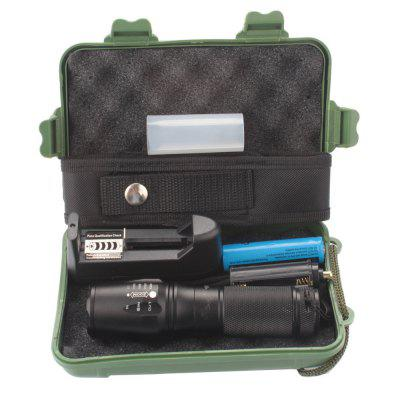 Portable 5000Lumens Ultra Bright - CREE XML T6 LED Tactical Flashlight 5 Modes+18650 Battery+Charger+Kit cree 5 led xml t6 headlight 20000 lumens 4mode zoomable headlamp rechargeable head lamp flashlight 2 18650 battery ac dc charger