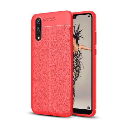 Funda para Huawei P20 Litchi Grain Anti Drop Soft TPU Cover