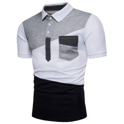 Summer New Mens Color Stitching Short Sleeved Polo ShirtMens Short Sleeve Tees<br>Summer New Mens Color Stitching Short Sleeved Polo Shirt<br><br>Collar: Turn-down Collar<br>Color Style: Contrast Color<br>Fabric Type: Broadcloth<br>Material: Cotton<br>Package Contents: 1xPolo Shirt<br>Pattern Type: Patchwork<br>Sleeve Length: Short<br>Style: Casual<br>Type: Loose<br>Weight: 0.3000kg