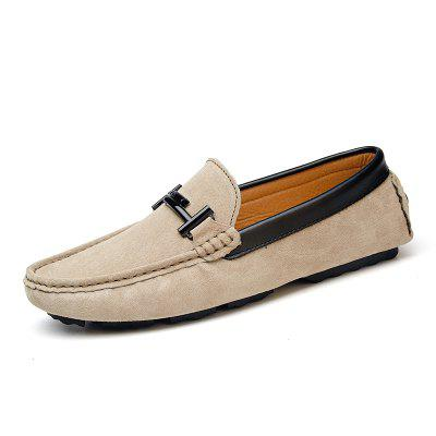 New Men Real Leather Casual Bean Shoes