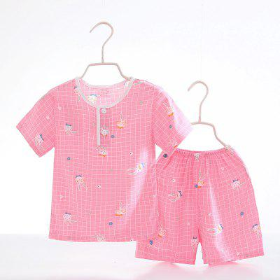 Summer Rayon Girls Short Sleeve Pajamas Set D64Girls clothing sets<br>Summer Rayon Girls Short Sleeve Pajamas Set D64<br><br>Closure Type: Open<br>Clothing Length: Regular<br>Collar: Round Collar<br>Gender: Girls<br>Head Drawstring: Without<br>Material: Rayon<br>Neck Drawstring: Without<br>Package Contents: 1 x Set of Pajamas<br>Pattern Type: Others<br>Season: Summer<br>Sleeve Length: Short<br>Sleeve Style: Regular<br>Style: Casual<br>Type: Wide-waisted<br>Weight: 0.1000kg