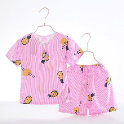 Summer Rayon Girls Short Sleeve Pajamas Set D65Girls clothing sets<br>Summer Rayon Girls Short Sleeve Pajamas Set D65<br><br>Closure Type: Open<br>Clothing Length: Regular<br>Collar: Round Collar<br>Gender: Girls<br>Head Drawstring: Without<br>Material: Rayon<br>Neck Drawstring: Without<br>Package Contents: 1 x Set of Pajamas<br>Pattern Type: Others<br>Season: Summer<br>Sleeve Length: Short<br>Sleeve Style: Regular<br>Style: Casual<br>Type: Wide-waisted<br>Weight: 0.1000kg