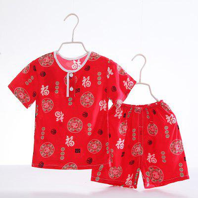 Summer Rayon Girls Short Sleeve Pajamas Set D66Girls clothing sets<br>Summer Rayon Girls Short Sleeve Pajamas Set D66<br><br>Closure Type: Open<br>Clothing Length: Regular<br>Collar: Round Collar<br>Gender: Girls<br>Head Drawstring: Without<br>Material: Rayon<br>Neck Drawstring: Without<br>Package Contents: 1 x Set of Pajamas<br>Pattern Type: Others<br>Season: Summer<br>Sleeve Length: Short<br>Sleeve Style: Regular<br>Style: Casual<br>Type: Wide-waisted<br>Weight: 0.1000kg