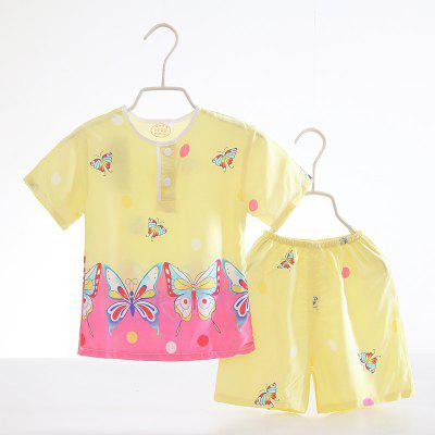 Summer Rayon Girls Short Sleeve Pajamas Set D53Girls clothing sets<br>Summer Rayon Girls Short Sleeve Pajamas Set D53<br><br>Closure Type: Open<br>Clothing Length: Regular<br>Collar: Round Collar<br>Gender: Girls<br>Head Drawstring: Without<br>Material: Rayon<br>Neck Drawstring: Without<br>Package Contents: 1 x Set of Pajamas<br>Pattern Type: Others<br>Season: Summer<br>Sleeve Length: Short<br>Sleeve Style: Regular<br>Style: Casual<br>Type: Wide-waisted<br>Weight: 0.1000kg
