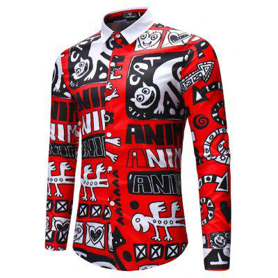 2018  Mens Strange letter Long-Sleeved ShirtMens Shirts<br>2018  Mens Strange letter Long-Sleeved Shirt<br><br>Collar: Turn-down Collar<br>Material: Linen<br>Package Contents: 1x shirt<br>Shirts Type: Casual Shirts<br>Sleeve Length: Full<br>Weight: 0.3000kg
