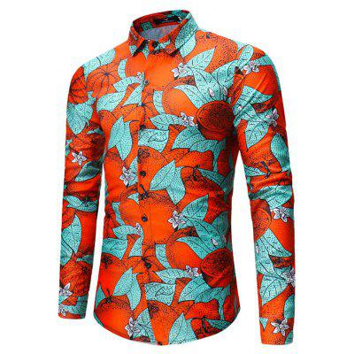 2018 Mens Green Leaves Orange Print Long-Sleeved ShirtMens Shirts<br>2018 Mens Green Leaves Orange Print Long-Sleeved Shirt<br><br>Collar: V-Neck<br>Material: Linen<br>Package Contents: 1xshirt<br>Shirts Type: Casual Shirts<br>Sleeve Length: Full<br>Weight: 0.3500kg