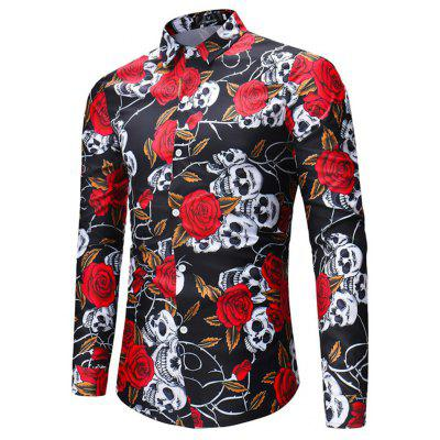 2018 New Foreign Trade New Mens Long-Sleeved Shirt Skull Rose Print ShirtMens Shirts<br>2018 New Foreign Trade New Mens Long-Sleeved Shirt Skull Rose Print Shirt<br><br>Collar: Turn-down Collar<br>Fabric Type: Broadcloth<br>Material: Linen<br>Package Contents: 1xshirt<br>Shirts Type: Casual Shirts<br>Sleeve Length: Full<br>Weight: 0.3500kg