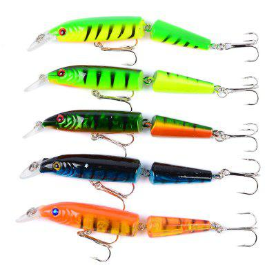 5PC Fishing 10.5CM/9.6G Minnow Plastic Fishing Tackle Bait