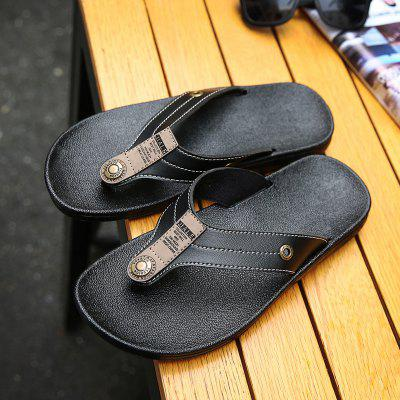 Mens Casual Fashion Leather SlippersMens Slippers<br>Mens Casual Fashion Leather Slippers<br><br>Available Size: 40-44<br>Embellishment: Sequined<br>Gender: For Men<br>Outsole Material: Rubber<br>Package Contents: 1xShoes(pair)<br>Pattern Type: Others<br>Season: Summer, Spring/Fall, Winter<br>Slipper Type: Outdoor<br>Style: Fashion<br>Upper Material: PU<br>Weight: 1.3640kg