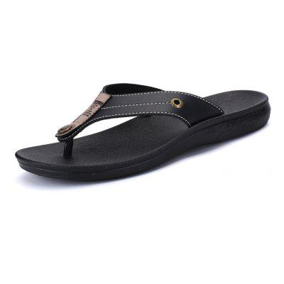 Men's Casual Fashion Leather Slippers