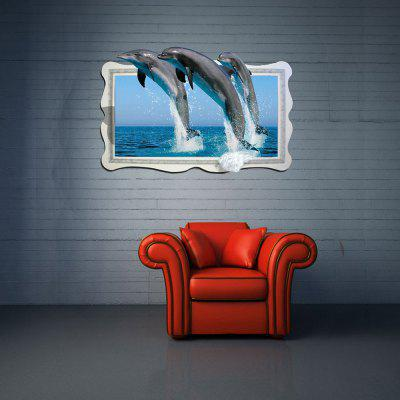 3D Wall Sticker Dolphin Personality Creative DecorationWall Stickers<br>3D Wall Sticker Dolphin Personality Creative Decoration<br><br>Artists: Others<br>Color Scheme: Multicolor<br>Function: Decorative Wall Sticker, 3D Effect<br>Material: Vinyl(PVC)<br>Package Contents: 1 x Wall Sticker<br>Package size (L x W x H): 64.00 x 6.20 x 6.20 cm / 25.2 x 2.44 x 2.44 inches<br>Package weight: 0.4200 kg<br>Product size (L x W x H): 92.00 x 58.00 x 0.30 cm / 36.22 x 22.83 x 0.12 inches<br>Product weight: 0.1600 kg<br>Quantity: 1<br>Subjects: Fashion,Animal,Leisure,Holiday,Cute,3D<br>Suitable Space: Living Room,Bathroom,Bedroom,Dining Room,Office,Hotel,Cafes,Kids Room,Kids Room,Study Room / Office,Boys Room,Girls Room,Game Room<br>Type: 3D Wall Sticker