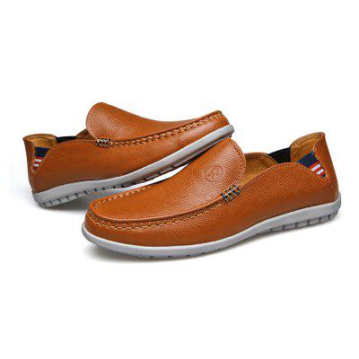 Men Casual Outdoor Slip on Business Leather Shoes branded men s penny loafes casual men s full grain leather emboss crocodile boat shoes slip on breathable moccasin driving shoes
